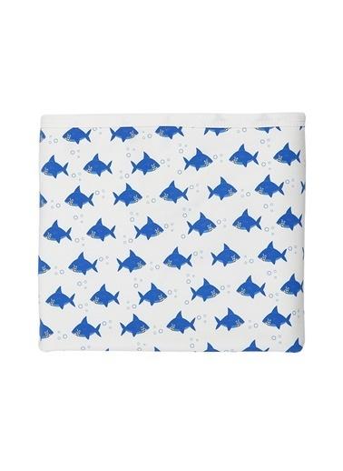 Nila Kids Nila Kids Shark Organik Bebek Battaniyesi Renkli